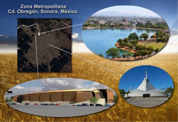 Valle del Yaqui y Ciudad Obregon Sonora Mexico desde el Espacio 3