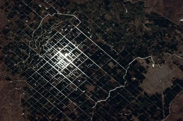 Valle del Yaqui y Ciudad Obregon Sonora Mexico desde el Espacio