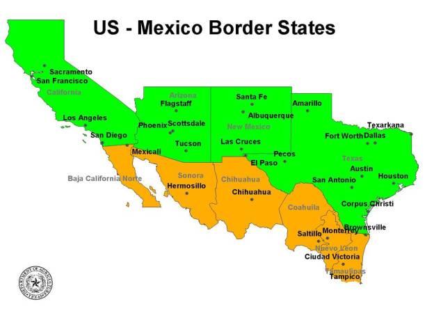 US & Mexico Border States